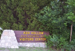 Ash Hollow State Park Entrance